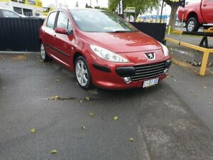 2006 Peugeot 307 T6 XS Red 4 Speed Sports Automatic Hatchback Invermay Launceston Area Preview