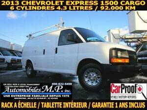 2013 Chevrolet Express 1500 CARGO 92.000 KM 6 CYLINDRE RACK A ÉC