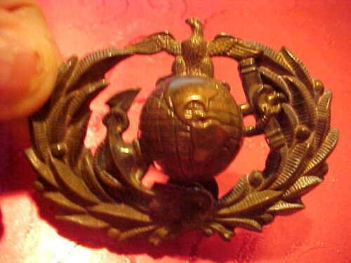1866-97 U.S. U.S.M.C. MARINE CORPS KEPI,CAP OR HAT EAGLE INSIGNIA