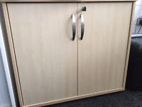 Lockable maple cabinet size 80 x 40 x 70