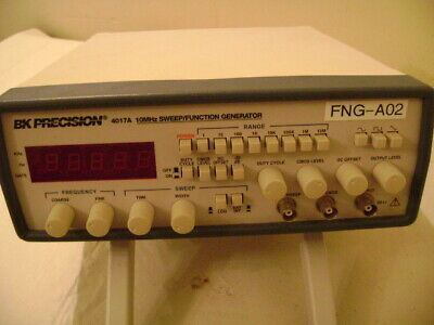 Bk Precision 4017a 10 Mhz Digital Sweep Function Generator Tested And Working