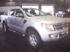 FORD RANGER 2.2 LIMITED 4X4 DCB TDCI 148 BHP (silver) 2014
