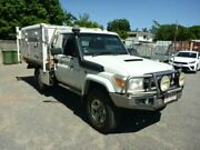 2009 Toyota Landcruiser VDJ79R MY10 GXL SINGLE CAB White Manual Cab Chassis Rosslea Townsville City Preview