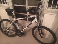 Mountain Bike: 26 inch wheels, 21 speeds, Shimano shifters and B'twin baby seat