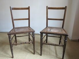 Vintage bedroom cane seated chairs for restoration/upcycling