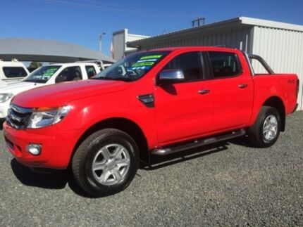 2014 Ford Ranger PX XLT 3.2 (4x4) Red 6 Speed Manual Dual Cab Utility