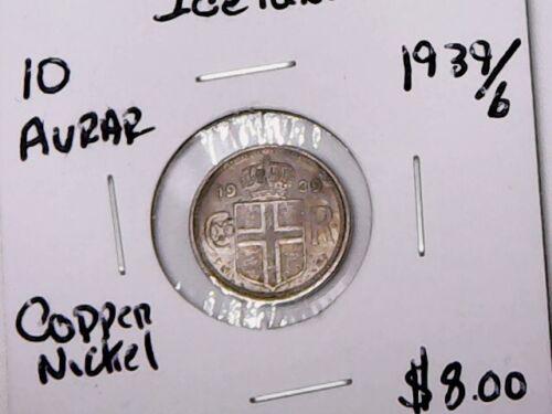 1939b Iceland 10 Aurar (Copper/Nickel)