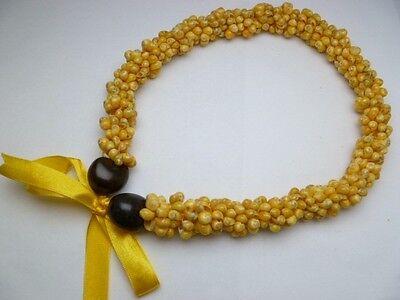 Hawaii Wedding/Graduation Kukui Nut Lei Luau Hula Jewelry Necklace~31025 (QTY 2)