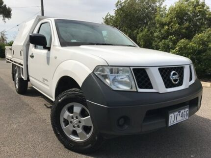2009 Nissan Navara D40 RX (4x4) White 6 Speed Manual Cab Chassis Hoppers Crossing Wyndham Area Preview