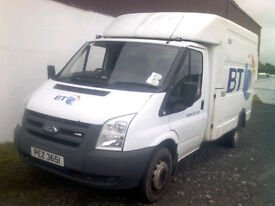 2007 Ford Transit T350 90 MWB Engineers Box Van For Auction