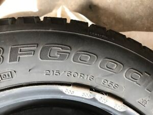 2 Winter tires with Rims (215/60R16)