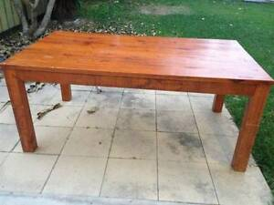 Large Wooden Table & 2 Bench Seats Virginia Brisbane North East Preview