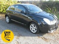 2010 10-reg Alfa Romeo Mito 1.4 16v Lusso 3Dr FSH Recent cambelt and water pump fitted