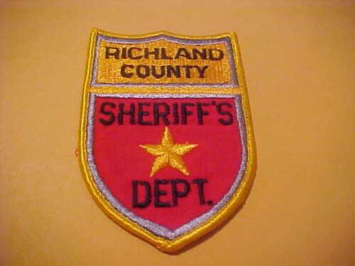 RICHLAND COUNTY  NORTH  DAKOTA POLICE PATCH SHOULDER SIZE NEW  TYPE 1