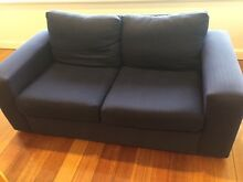 2 seater couch -  navy blue material Sandy Bay Hobart City Preview