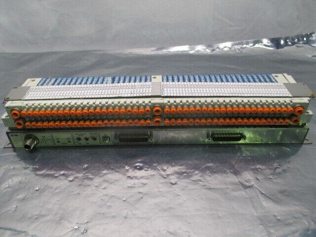 SMC 42 Port SJ2A60T-5NF2-N1-X21 Solenoid Valve Electric EV Manifold Assy, 453840
