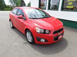 2014 Chevrolet Sonic LT w/ sunroof for $93 bi-weekly all in!