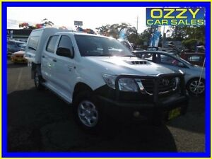 2012 Toyota Hilux KUN26R MY12 SR (4x4) Glacier White 5 Speed Manual Dual Cab Chassis Penrith Penrith Area Preview