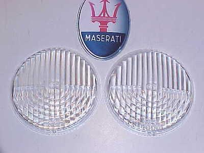 Maserati 3500 Fog Driving Light Lenses 3500 GT Cibie Pair Clear OEM