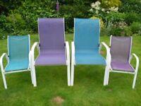 4 Stackable Garden Chairs
