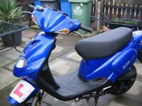TGB 202 CLASSIC 2 STROKE 50cc moped 2011 in blue 12 months mot from today 15/1/17