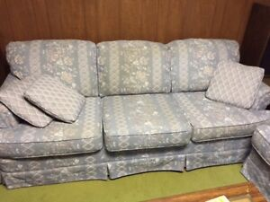 Retro 1990s style sofa and loveseat