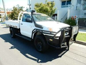 2008 Toyota Hilux KUN26R MY09 SR White 5 Speed Manual Cab Chassis Redcliffe Redcliffe Area Preview