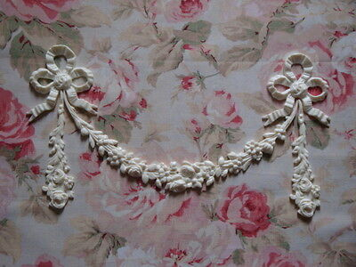 Shabby & Chic BOWS ROSE FLORAL Give someone the sack decline GARLAND Furniture Applique Architectural