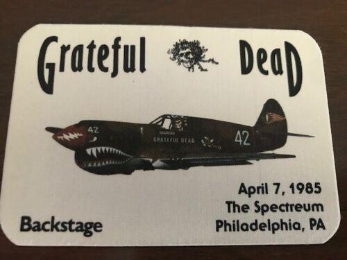 Grateful Dead -backstage pass - Spectrum April 7, 1985 -