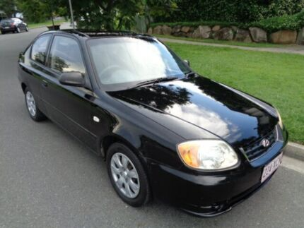 2003 Hyundai Accent LC ACCENT Black 5 Speed Manual Hatchback Chermside Brisbane North East Preview