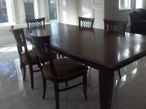 Wood Kitchen Table, 6 Solid Wood Chairs and wood furniture