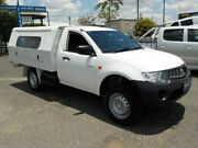 2008 Mitsubishi Triton ML MY09 GL White 5 Speed Manual Cab Chassis Archerfield Brisbane South West Preview