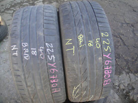 225 45 17 Continental ContiSportContact 5 x2 A Pair, 4.9mm (Part Worn Tyres Braintree)