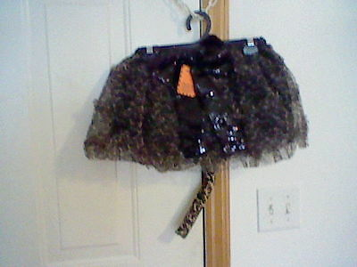 BRAND NEW GIRL'S HALLOWEEN LEOPARD PRINT TUTU AND TAIL SET (ONE SIZE FITS ALL) - Leopard Mask