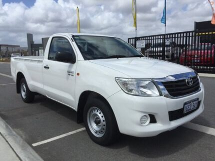 2013 Toyota Hilux GGN15R MY12 SR White 5 Speed Manual