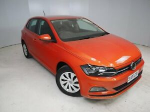 2019 Volkswagen Polo AW MY19 70TSI DSG Trendline Orange 7 Speed Sports Automatic Dual Clutch Mount Gambier Grant Area Preview