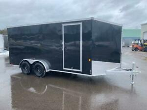 NEW 2019 OMEGA 7' X 16' ALUMINUM ENCLOSED TRAILER