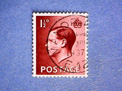 GB. KEVIII 1936 1½d Red-Brown. SG459. Wmk W125. P15 x 14. Used.
