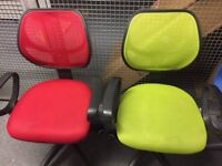 2 x Office Spinning Chairs on wheels. Good condition