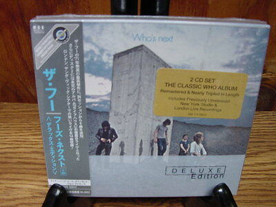 THE WHO NEXT DELUXE EDITION JAPAN 2003 LIMITED EDITION 2 CD SET W/ BONUS TRACKS