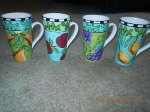 Harvest By Ursula Dodge For Signiture Coffee / Tea Mugs.New