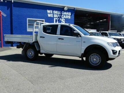2011 Mitsubishi Triton MN MY11 GLX Double Cab White 4 Speed Automatic Utility