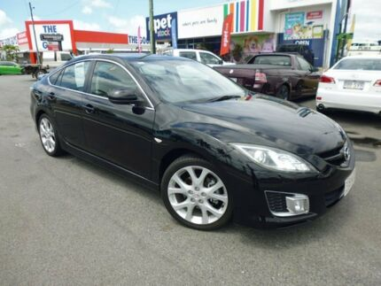 2008 Mazda 6 GH1051 Luxury Sports Brilliant Black 5 Speed Sports Automatic Hatchback Cairns Cairns City Preview