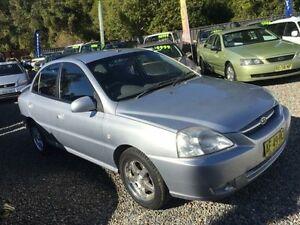 2005 Kia Rio BC Silver 5 Speed Manual Sedan Jewells Lake Macquarie Area Preview