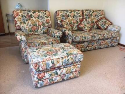 2 Seater Couch, Single Chair & Ottoman