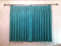 BRAND NEW PAIR OF LINED CURTAINS.... UNUSED......