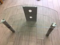Clear Glass TV Stand and Playstation, XBox, Gaming Machine Table