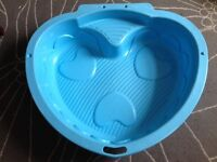 Blue Heart shaped Sandpit / Paddling Pool