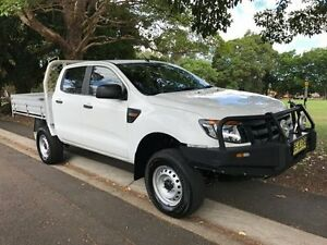 2012 Ford Ranger PX PX MkII XL Cab Chassis Double Cab 4dr Spts Auto 6sp, 4x4 116 White 6 Speed Croydon Burwood Area Preview