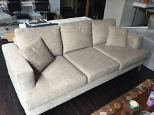 Design Sofa 2100x950mm - 3 seats - Fabric light green/siege color Millers Point Inner Sydney Preview
